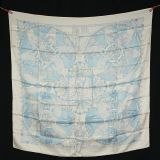 Authentic Hermes Scarf Les Chants In Pristine Cond W Sleeve