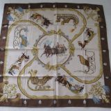 Authentic Hermes Scarf Plumes Et Grelots Silk Carre
