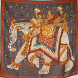 Authentic Hermes Scarf Silk Beloved India 90 Cm