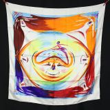 Authentic Hermes Scarf Smiles In The Third Millenary Pristine W box