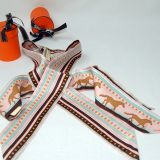 Authentic Hermes Sequences Pink Brown 2 Twillys