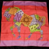 Authentic Hermes Silk Carre 90cm Twill A Cheval Sur Mon Carre
