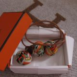 Authentic Hermes Silk Pom Poms Bag Charm