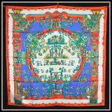 Authentic Hermes Silk Scarf Astres Et Soleils By Annie Faivre