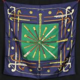 Authentic Hermes Silk Scarf Cannes Et Pommeaux In Pristine Cond