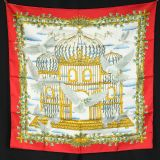 Authentic Hermes Silk Scarf Envol In Pristine Condition