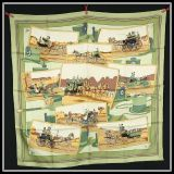 Authentic Hermes Silk Scarf In Excellent Condition