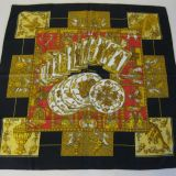 Authentic Hermes Silk Scarf Le Tarot Carre