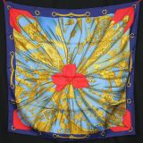 Authentic Hermes Silk Scarf Soleil De Soie Excellent Cond