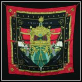 Authentic Hermes Silk Scarf Vue De Carosse In Pristine Condtion