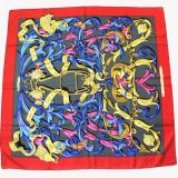 Authentic Hermes Silk Scarf quotLe Mors A La Conetable quot90 Cm