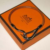 Authentic Hermes Silver Hook Bracelet Excellent