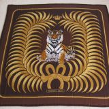 Authentic Hermes Tigre Royal Cashmere Silk Stole