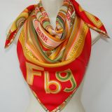 Authentic Hermes Tohu Bohu Silk Scarf Red Gold