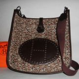 Authentic Hermes Vibrato Veau Evercalf Evelyne Shoulder Bag Rare