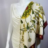 Authentic Vintage Hermes Silk Scarf Les Cles Great Value