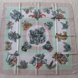 Authentic Rare Hermes Scarf Confidents Des Coeurs Silk Carre