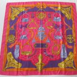 Authentic Rare Hermes Scarf Etriers Silk Carre