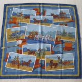 Authentic Rare Hermes Scarf Mystery Voitures Silk Carre