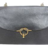 Hermes Black Lizard quotpiano quotBag With Braided Twist
