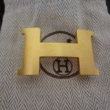 Hermes Buckle H Constance PM Gold Plated
