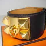 Hermes Cdc Bracelet Collier De Chien Chocolate Ghw Gold Authentic