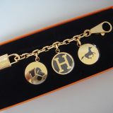 Hermes Charm For Birkin Kelly Gold Berloque Key Chain Nib Auth
