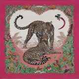 Hermes Jungle Love Pink Scarf Shawl Stole Limited Edition Auth
