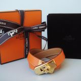 Hermes Kelly Double Tour Bracelet Orange Gold Ghw Kdt Nib Authth