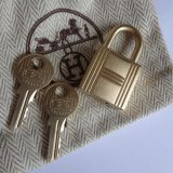 Hermes Lock and Keys Gold Brushed