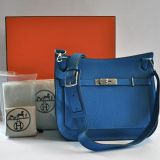 Hermes Mykonos Jypsiere 28cm Palladium Hardware Clemence Leather