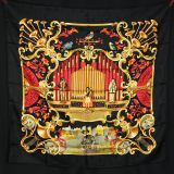 New Authentic Hermes Jacquard Silk Scarf Orgauphone