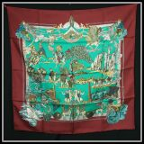 New Authentic Hermes Silk Scarf Au Fil De La Soie